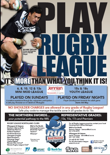 Play rugby league flyer