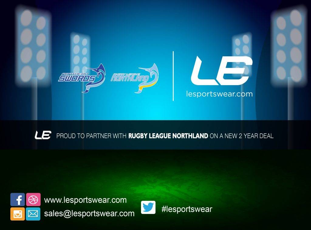 LE Sportswear partnership with Rugby League Northland