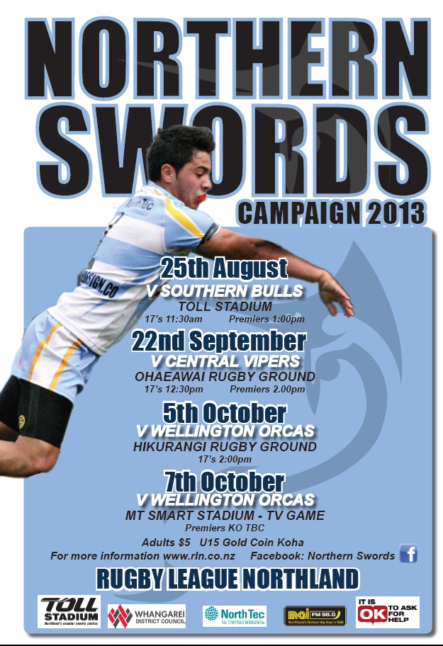 Northern Swords 17s – National Competition Draw for 2013