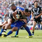 Peta Hiku of New Zealand is tackled. Photo: Anthony Au-Yeung / photosport.co.nz
